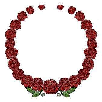 バラの花輪