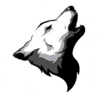 オオカミの頭のベクトル