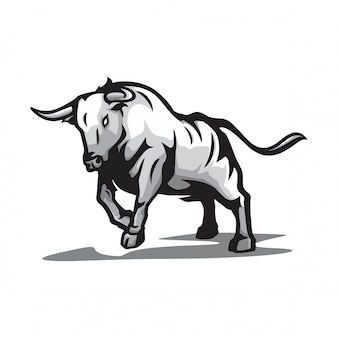 野生の雄牛のベクトル