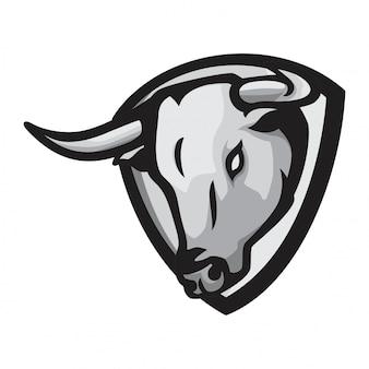 Голова быка вектор