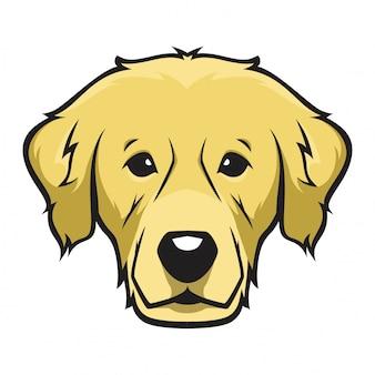ゴールデンレトリーバーヘッド犬