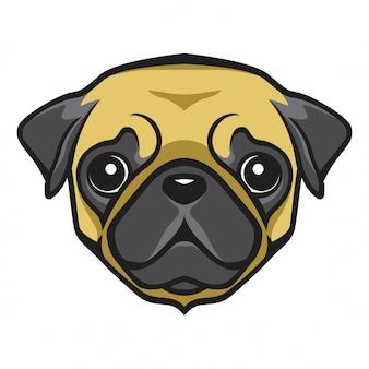 Мопс голова собака