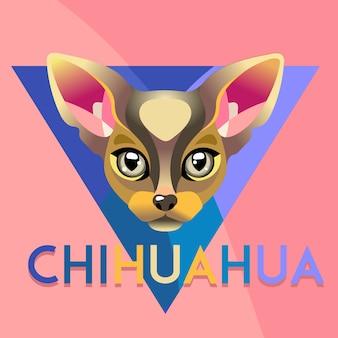抽象的な犬チワワイラストレーション