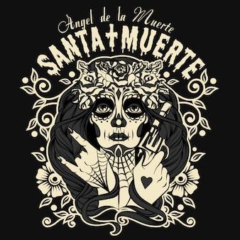 Санта муэрте персонаж хэллоуин