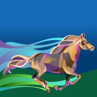 抽象的な馬