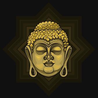 Золотой будда излучает свет