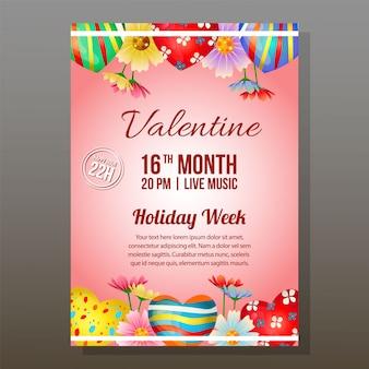 キャンディゼリーと華やかな赤いバレンタインパーティー