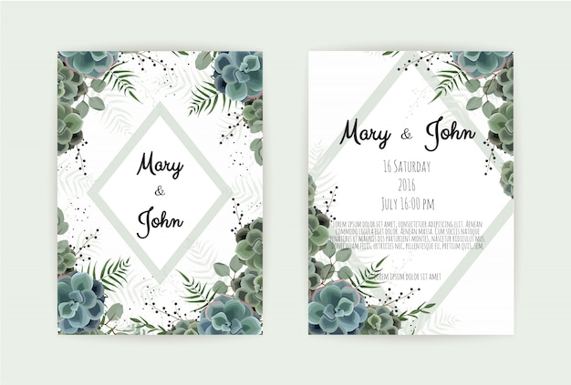 挨拶、はがき結婚式招待状のテンプレート。
