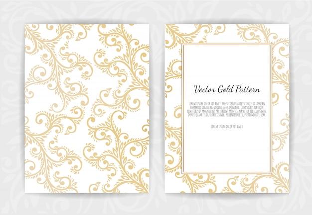 黒地にゴールドのビンテージグリーティングカード
