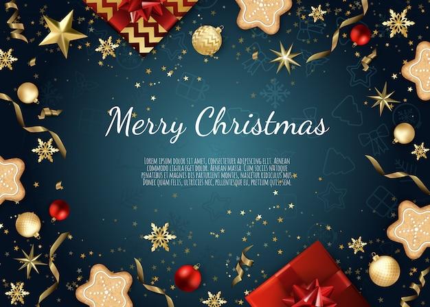 クリスマスのグリーティングカード
