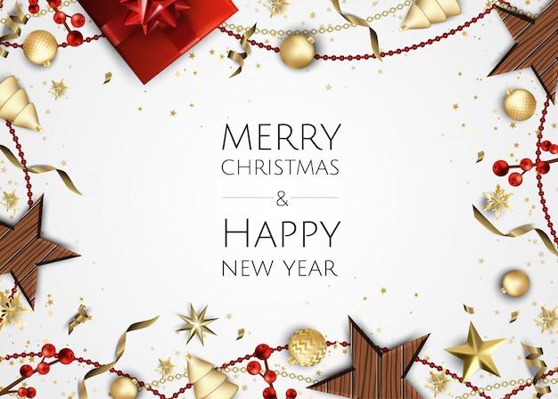 クリスマスの背景、創造的なデザインのグリーティングカード、バナー、ポスター、