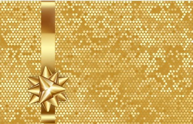 Новогодний золотой фон, блестящая золотая композиция, рождественская открытка