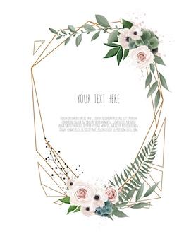 ベクトル花の植物カードデザイン