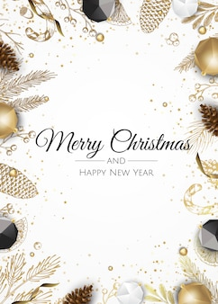 金色の装飾クリスマスの背景