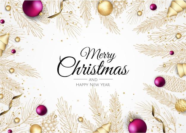 Рождественский векторный фон. рождественская распродажа, праздничный веб-баннер.