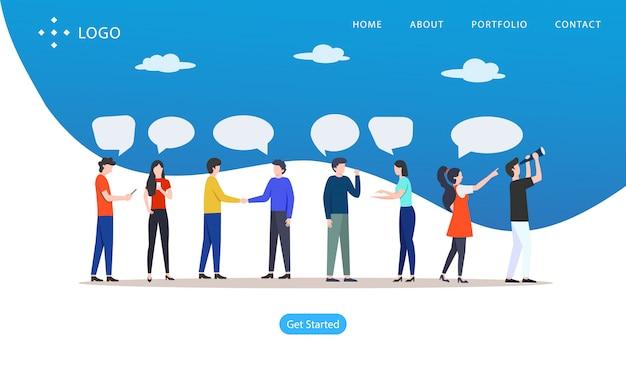 会話の人々、ウェブサイトのベクトル図