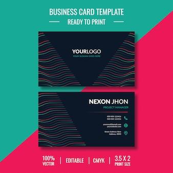 Креативный и чистый шаблон дизайна визитной карточки