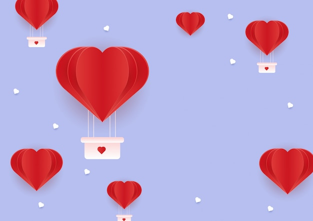 愛の背景とバレンタインデー