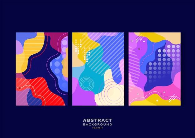 Современный абстрактный набор волновых фонов