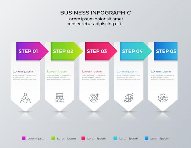 Шаг бизнес инфографики