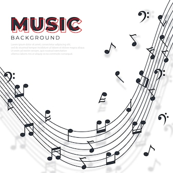 抽象的な音符バナー