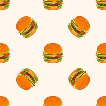ハンバーガーの模様。