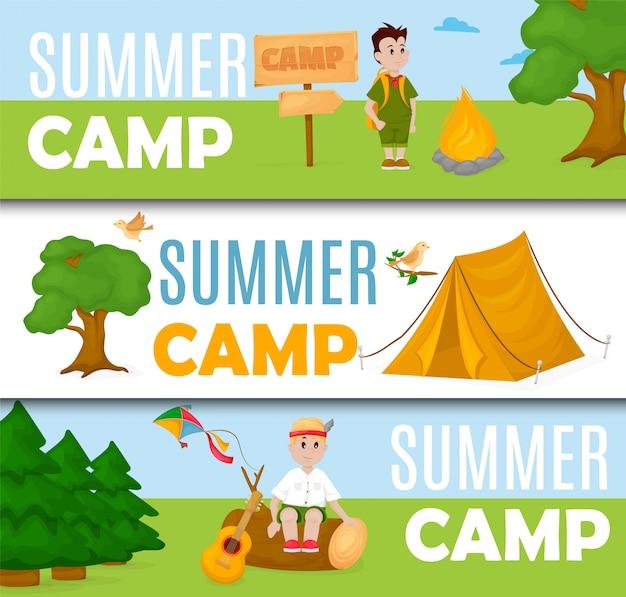 Баннер летнего детского лагеря