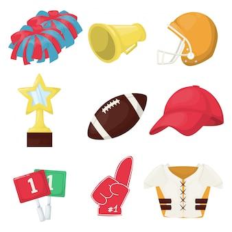 アメリカンフットボール機器選手権ゲームスポーツ試合。