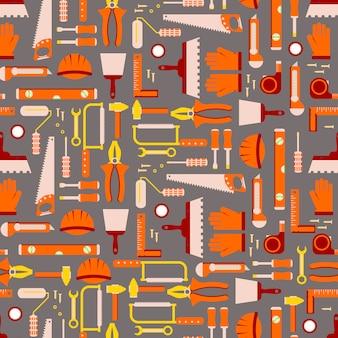 Строительные инструменты бесшовные модели. рабочее оборудование