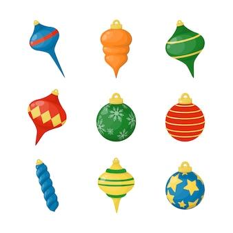 クリスマスボールのカラフルなクリスマスの装飾