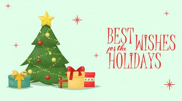 クリスマスカードクリスマスグリーティングデコレーション休日