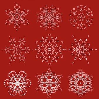 装飾クリスマス雪片セット