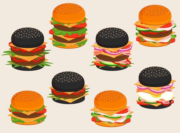 ハンバーガーフードサンドイッチ