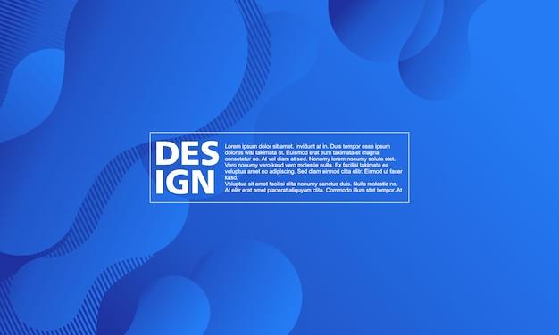 Синий абстрактный фон жидкие формы