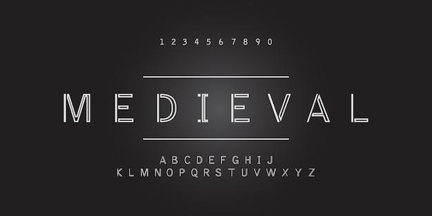 Минимальный двухстрочный шрифт