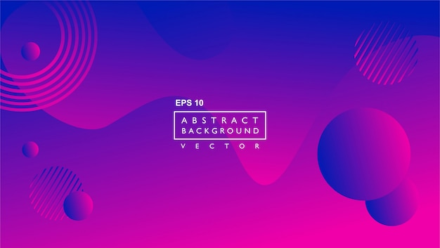 液体の抽象的な背景のテンプレート。円と線の形で。紫の