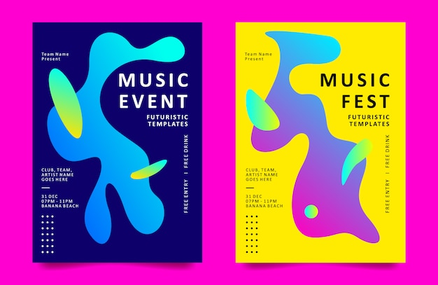 Шаблон дизайна плаката для музыкального мероприятия