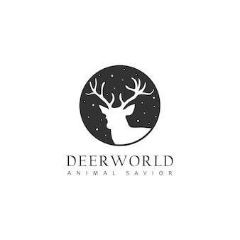 Голова оленя логотип