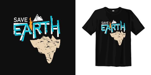Сохранить землю футболку