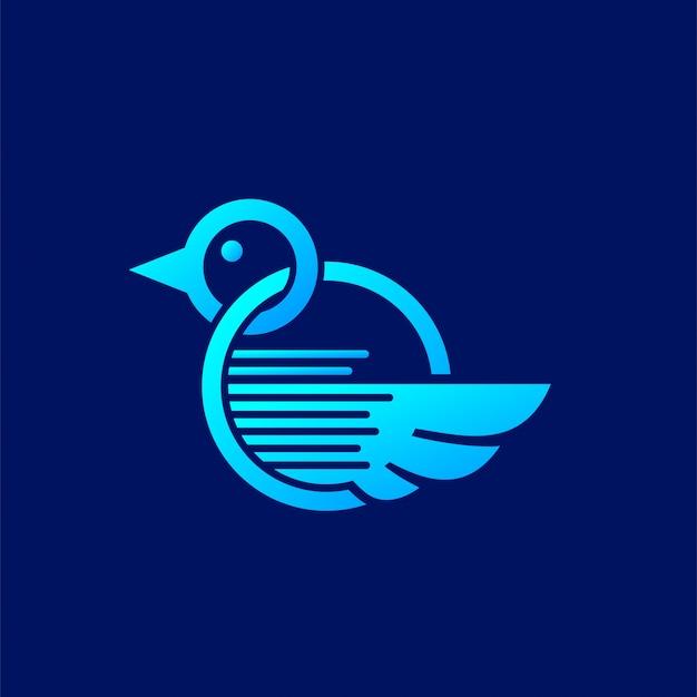 情報メディア企業のためのロゴのコンセプト