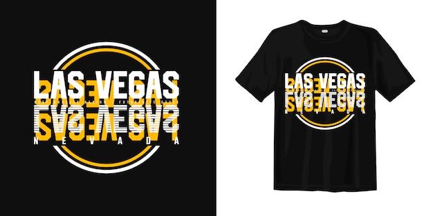 Лас-вегас невада стильный типография дизайн футболки