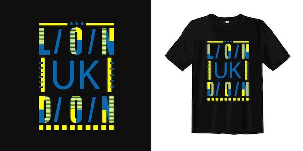 Лондон, великобритания стильная типографская одежда для печати на футболках с принтом