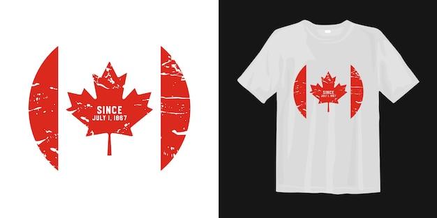 Флаг канады на футболке с кленовым листом.