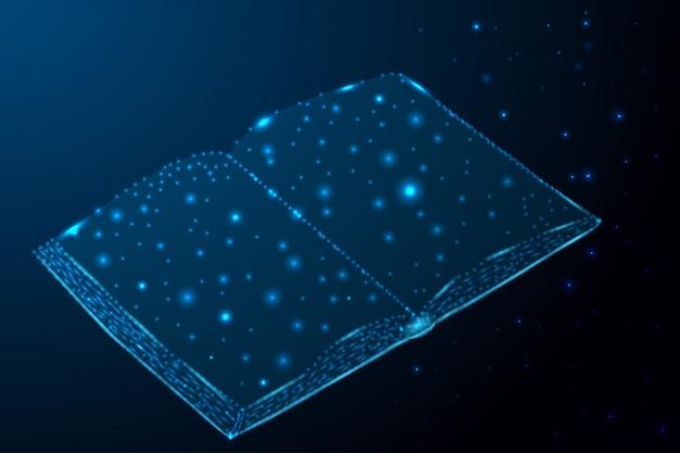 С изображением образования со звездами и линиями в форме книги