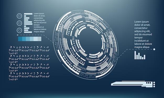 ハイテクインフォグラフィックテンプレートデザイン