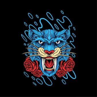 Дизайн иллюстрации головки тигра