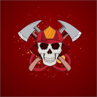 消防士の頭蓋骨の職業