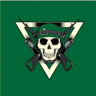 陸軍兵士の頭蓋骨の職業