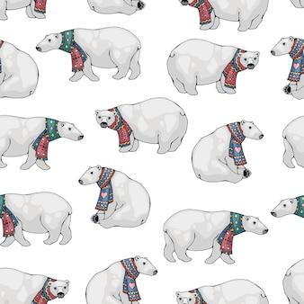 ホッキョクグマのパターン