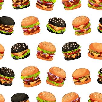 ハンバーガー模様